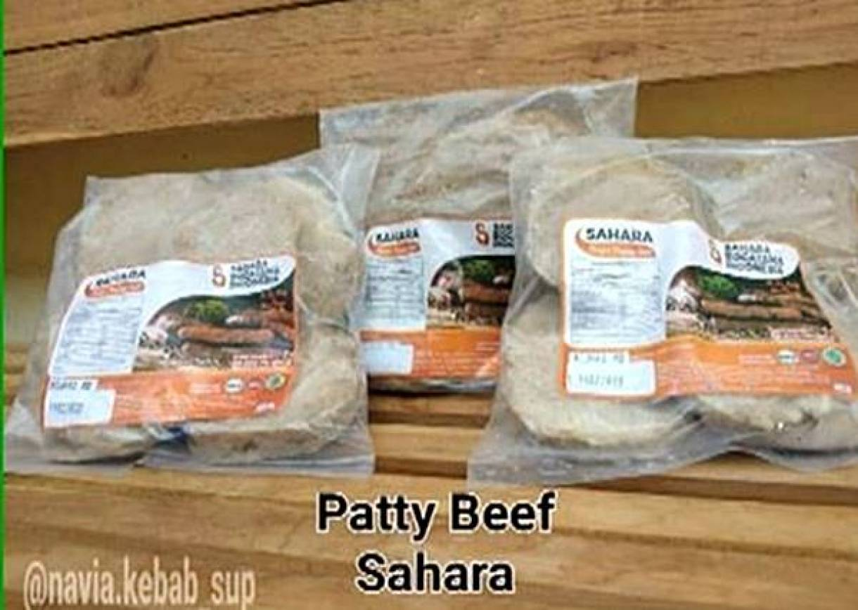 Patty Beef Rp40.000* Per Pack (Isi 10)